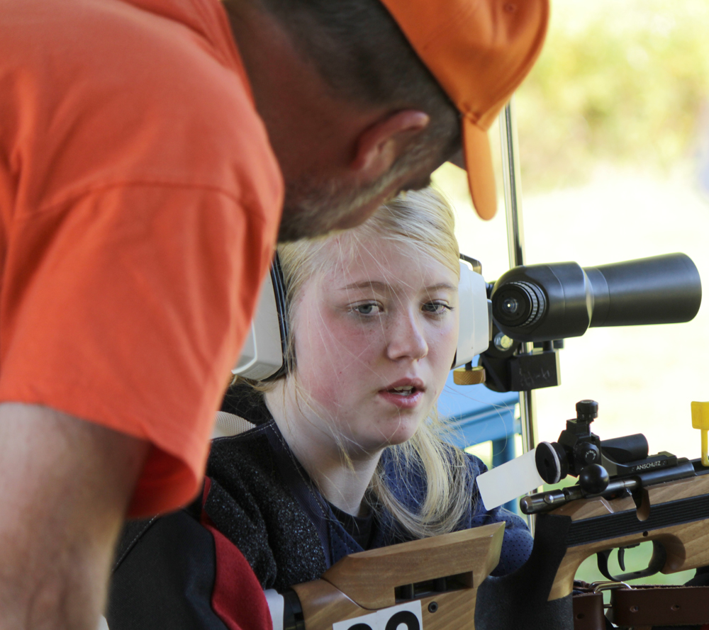 Lexi-gets-shooting-tips-from-CRPC-president-Wayne-Wood